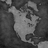 Map of North America - Blank Map
