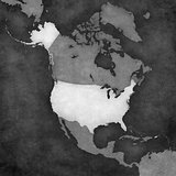 Map of North America - United States