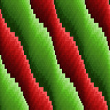 Abstract seamless wavy red and green stripes