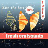 fresh and delicious croissants