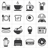 set of breakfast icon