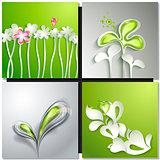 Eco green concept, spring card