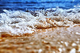 Sea shore in splashing motion