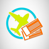 Vector airplane tickets icon