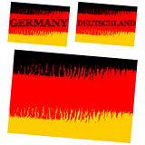 vector abstract flag of Germany