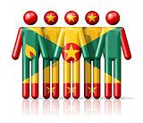 Flag of Grenada on stick figure