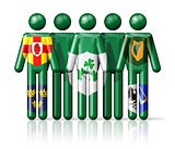 Flag of Ireland - IRFU on stick figure