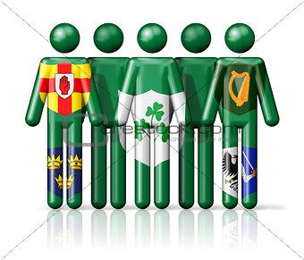 Flag of Ireland - IRFU on stick figure