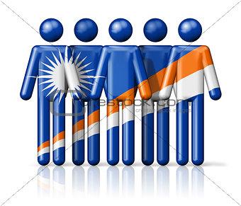 Flag of Marshall Islands on stick figure