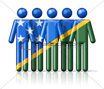 Flag of Solomon Islands on stick figure