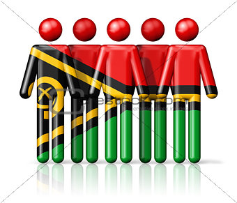 Flag of Vanuatu on stick figure
