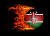 Flag with a trail of fire - Kenya