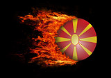Flag with a trail of fire - Macedonia