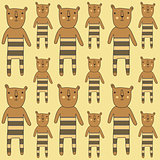 seamless pattern with bears