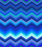 Dark turquoise and blue gradient chevron seamless pattern background vector.