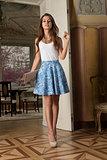 cute girl in indoor fashion shot