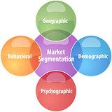 Market segmentation business diagram illustration