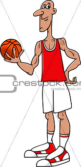 basketball player cartoon illustration