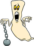 ghost with chain cartoon illustration