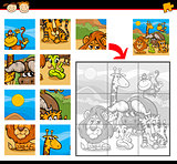 safari animals jigsaw puzzle game