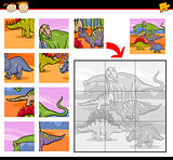 cartoon dinosaurs jigsaw puzzle game