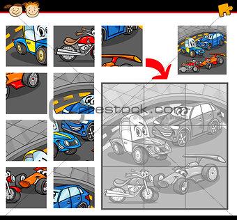 cars cartoon jigsaw puzzle game