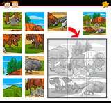 wild animals jigsaw puzzle game