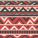 Vector Aztec Tribal Seamless Pattern on Crumpled Paper