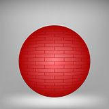 Red Brick Sphere