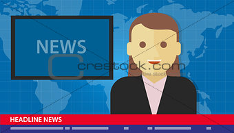 anchor woman news headline breaking tv