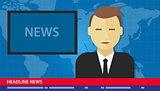 anchor man news headline breaking tv