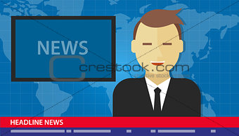 anchor man news headline breaking tv