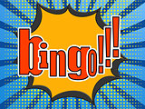 Bingo comic speech bubble