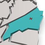 North Carolina map in blue