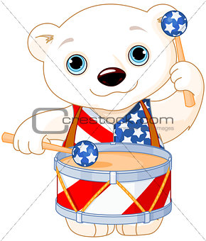 4th of July Polar Bear