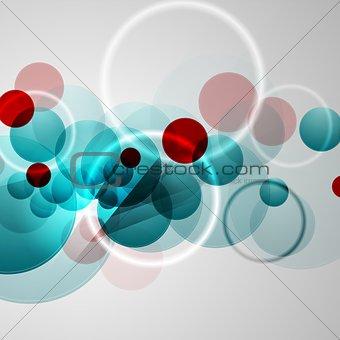 Bright circles geometric background