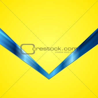 Abstract contrast yellow blue tech background