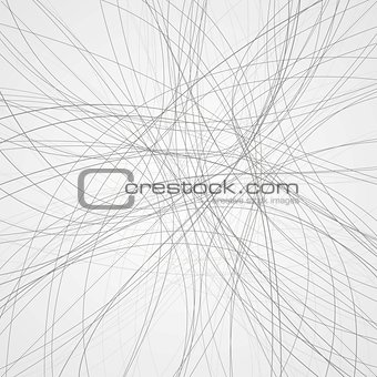 Abstract grey lines vector background