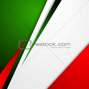 Corporate bright abstract background. Italian colors