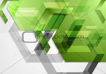 Green shiny hi-tech geometric background