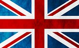 United Kingdom of Great Britain grunge flag