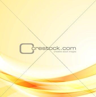 Bright smooth orange shiny waves background
