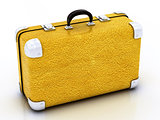 yellow traveling bag