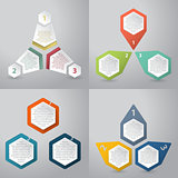 Abstract infographics background with hexagon elements