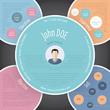Colorful circles resume cv template design