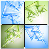 Modern triangle abstract vector background