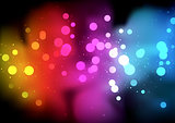 Rainbow Bokeh Background