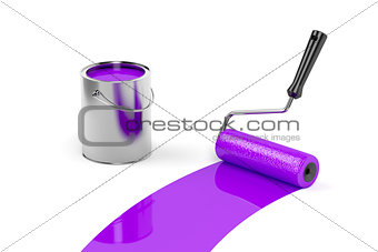 Painting with purple paint