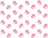 Baby background cats pink seamless