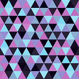 Seamless geometric triangles background. Mosaic.